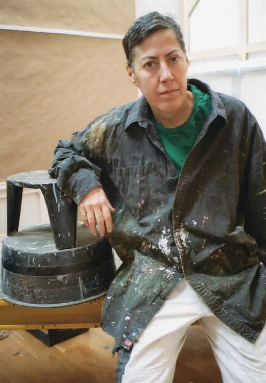 Nicole Eisenman in her studio, 2019. Photo: © Mary Manning.PNG