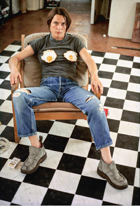 * Sarah Lucas, Self-portrait with Fried Eggs, 1996. C-print. Photo: © Sarah Lucas, courtesy Sadie Coles HQ, London.PNG