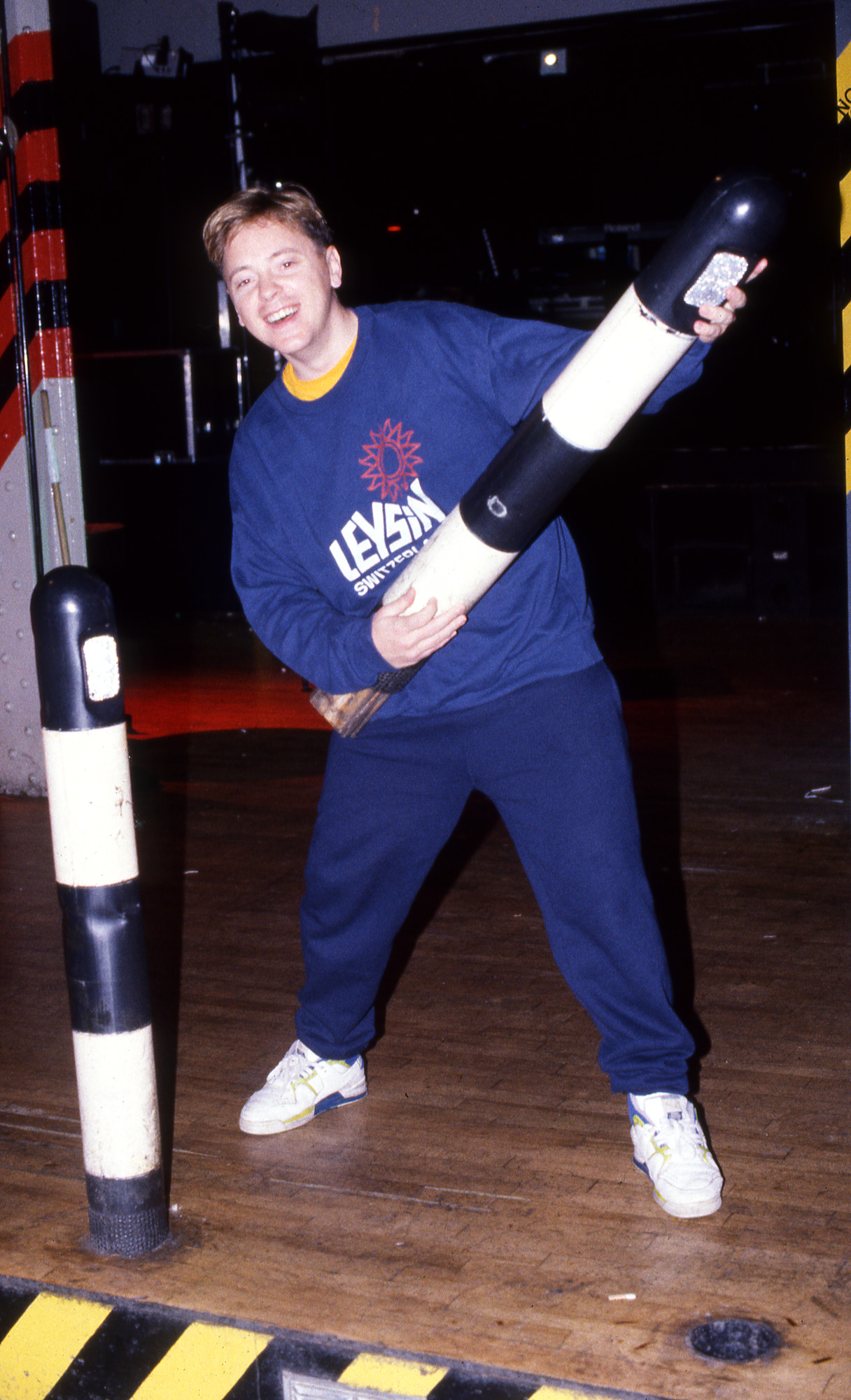 Peter J Walsh - Rave One - Bernard Sumner [New Order] with a dancefloor bollard.jpg