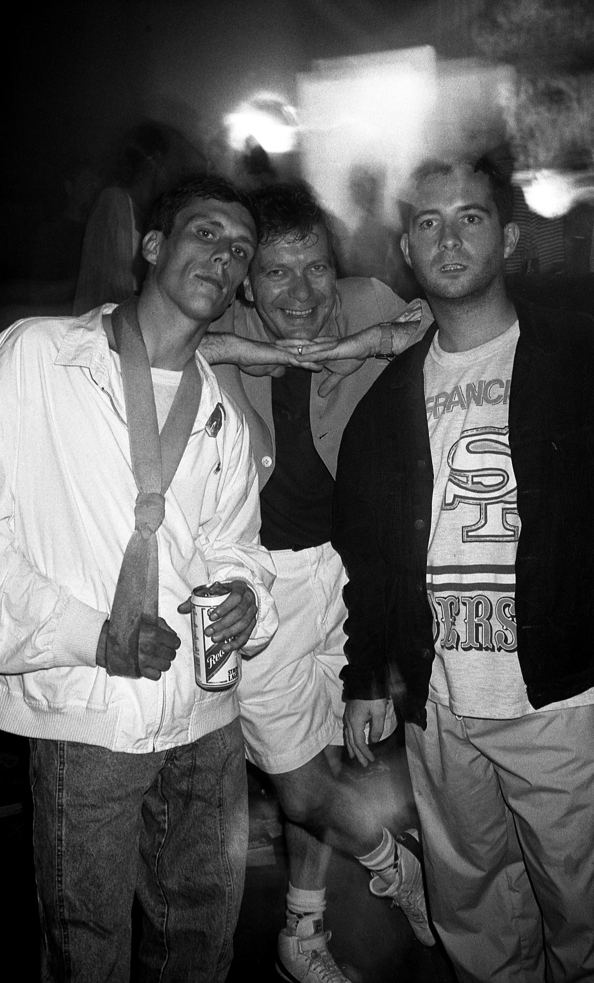Peter J Walsh - Rave One - Bez [Happy Mondays], Tony Wilson and P.D. [Happy Mondays].jpg